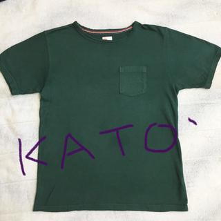 カトー(KATO`)のKATO'  カトー  モス グリーン Tシャツ Mサイズ(Tシャツ/カットソー(半袖/袖なし))