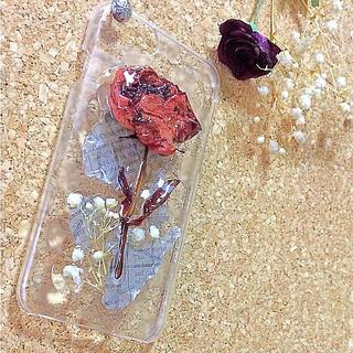 ⁂ドライフラワー 薔薇⁂ iPhoneケース iPhone6、iPhone7(スマホケース)