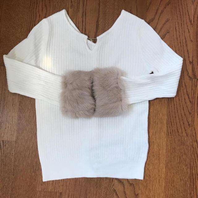 Rirandture(リランドチュール)のyuki様専用✨リランドチュール 袖ファー前後2wayニット レディースのトップス(ニット/セーター)の商品写真