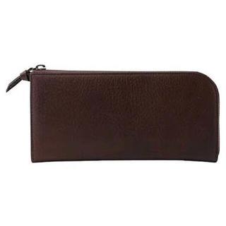 ムジルシリョウヒン(MUJI (無印良品))の【新品】MUJI ウォレット  ヌメシュリンク革 ファスナー長財布(財布)