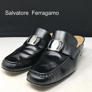 サルヴァトーレフェラガモ(Salvatore Ferragamo)の正規品 フェラガモ ヴァラ レザー ミュール ブラック(ハイヒール/パンプス)