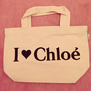 クロエ(Chloe)の新品 クロエ ロゴ入りエコトートバッグ(エコバッグ)