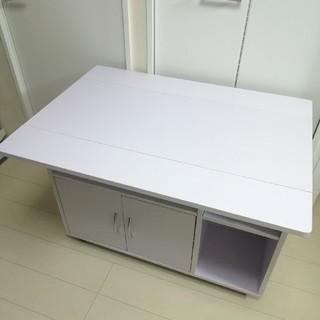 キッチンカウンター テーブル ホワイト(バーテーブル/カウンターテーブル)