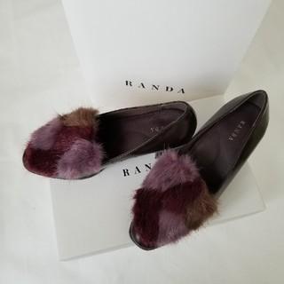 ランダ(RANDA)のRANDA ランダ  今季 ファー ローファー S(ローファー/革靴)