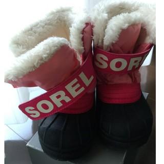 ソレル(SOREL)のSOREL 14cm スノーブーツ ピンク ボア(ブーツ)