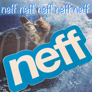 ネフ(Neff)のNEFFネフ US限定 ヘッドウエアBIGロゴステッカー(サーフィン)