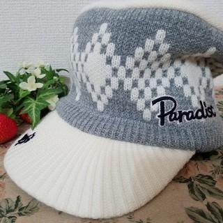 パラディーゾ(Paradiso)のParadiso ゴルフ用キャップ ニット(ウエア)