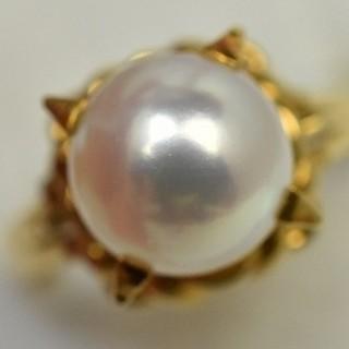 2点で 専用ですK18ゴールド 真珠 パール 8.2mm リング 11号 指輪 (リング(指輪))