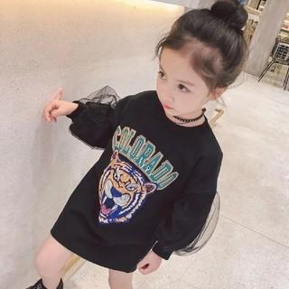 韓国子供服★タイガープリントワンピース(ワンピース)