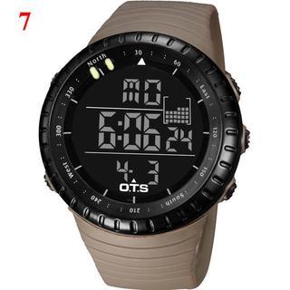 スント風 OTS ダイバーズウォッチ ブラウン 50M防水 腕時計(腕時計(デジタル))
