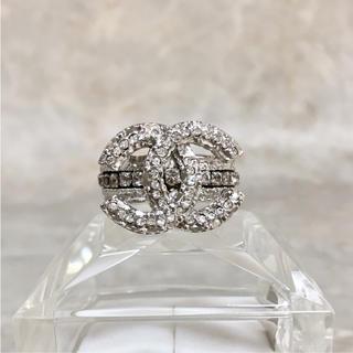 シャネル(CHANEL)の正規品 シャネル 指輪 エタニティ ココマーク ラインストーン 銀 石 リング(リング(指輪))