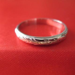 Pm900 (Pt900) プラチナ デザイン リング  15号 3.27g(リング(指輪))