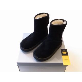 スイコック(suicoke)の新品 スイコック ムートンブーツ ブラック 24cm Suicoke(ブーツ)