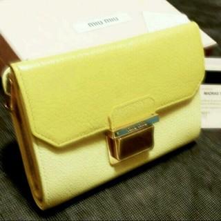 ミュウミュウ(miumiu)のmiumiu折り財布♡(財布)