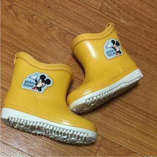 ディズニー(Disney)の未使用品 ミッキー 長靴  13cm(長靴/レインシューズ)