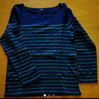ムジルシリョウヒン(MUJI (無印良品))の美品◎無印良品◎ボーダーカットソー(Tシャツ(長袖/七分))