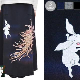 チキリヤ(CHIKIRIYA)のちきりや 禅 コラボ マキシスカート 兎乱菊(ロングワンピース/マキシワンピース)