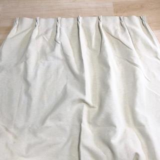 ムジルシリョウヒン(MUJI (無印良品))の無印良品 カーテン  2枚セット ホワイト(カーテン)
