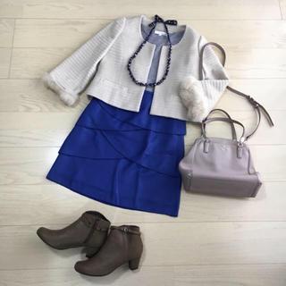 ジャスミン(ジャスミン)の【美品】16E jasmin タイトスカート(ひざ丈スカート)
