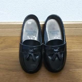 【送料込】16cm HARUTA フォーマル ローファー 靴 黒