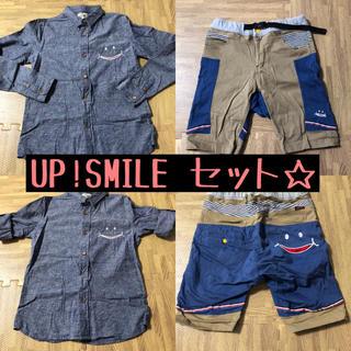 アップスタート(UPSTART)のUP!SMILE シャツ ハーフパンツ セット Mサイズ(Tシャツ(長袖/七分))