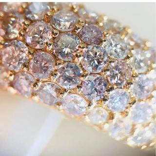 天然ピンクダイヤモンド1カラット!パヴェリング(リング(指輪))