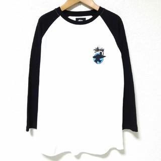ステューシー(STUSSY)の試着のみ STUSSY ステューシー ラグラン7分袖Tシャツ Sサイズ(Tシャツ/カットソー(七分/長袖))