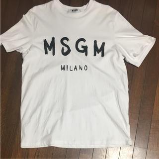 エムエスジイエム(MSGM)のMSGM tシャツ Sサイズ ホワイト(Tシャツ/カットソー(七分/長袖))