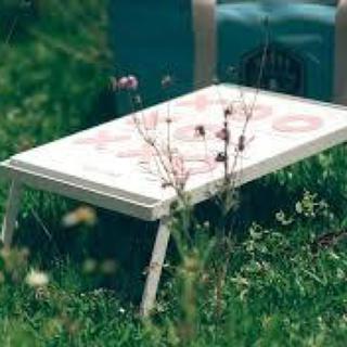 展示品特価 piccaliving OX IRON TABLE ホワイト(アウトドアテーブル)