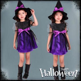 ハロウィン 衣装 子供 魔女 悪魔 コスプレ コスチューム(ドレス/フォーマル)