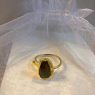 mamiy様ビジュマム 天然石リング  ペリドット(リング(指輪))