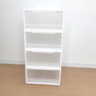 ムジルシリョウヒン(MUJI (無印良品))の未使用*無印良品 PPケース 引出式 小 4個セット(ケース/ボックス)