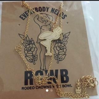 ロデオクラウンズワイドボウル(RODEO CROWNS WIDE BOWL)の値下げ☺️ロデオクラウンズ フラミンゴ ネックレス(ネックレス)