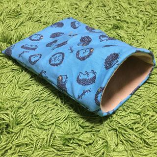 ハリネズミ用寝袋(冬用)♡青緑×ベージュ(その他)