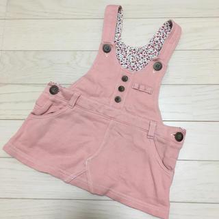 ベルメゾン - ベルメゾン ジャンパースカート サロペット ミニスカート ピンク 80