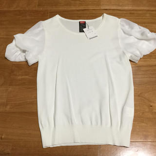 ダブルスタンダードクロージング(DOUBLE STANDARD CLOTHING)のダブスタ 白トップス(カットソー(半袖/袖なし))