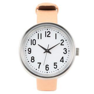 ムジルシリョウヒン(MUJI (無印良品))の無印良品 公園の時計・小・ヌメ 新品未使用!ソーラーウォッチ(腕時計)