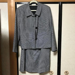 スカートスーツ 2点セット グレー 19ABR 3L(スーツ)