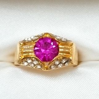 新品未使用 美品 リング 指輪 オシャレなデザイン 女性用 サイズ19号 45(リング(指輪))