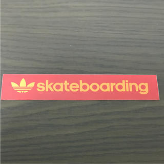 アディダス(adidas)の【縦2.1cm横14.9cm】adidas  skateboardステッカー(ステッカー)