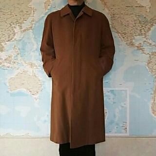 サンローラン(Saint Laurent)のイブサンローラン 毛100%コート キャメル 上品✨(ステンカラーコート)