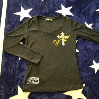 アンズ(ANZU)のANZU☆ギャル系黒長袖Tシャツ(Tシャツ(長袖/七分))