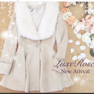 リュクスローズ(Luxe Rose)のリュクスローズ ボリュームファーコート ベージュ(毛皮/ファーコート)