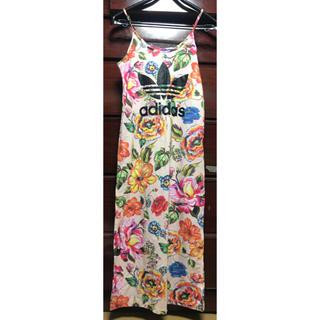 アディダス(adidas)のadidas マキシワンピース 花柄(ロングワンピース/マキシワンピース)