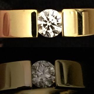 ニーシング フラット ダイヤモンド 0.303ct  750 リング(リング(指輪))