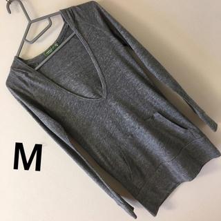 オルタナティブ(ALTERNATIVE)の295)M中古オルタナティブalternativeフード付き薄手ニット(ニット/セーター)