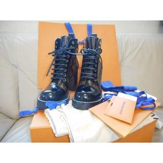 ルイヴィトン(LOUIS VUITTON)のLOUIS VUITTON スタートレイル アンクルブーツ 38 新品(ブーツ)