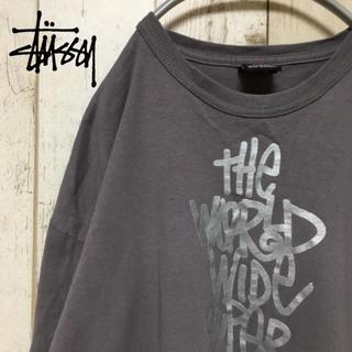 ステューシー(STUSSY)の90s STUSSY ステューシー ビックロゴ 長袖Tシャツ ビックサイズ(Tシャツ/カットソー(七分/長袖))