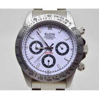 エルジン(ELGIN)の美品 ☆ ELGIN エルジン メンズ 腕時計 クロノグラフ FK-1059N (腕時計(アナログ))
