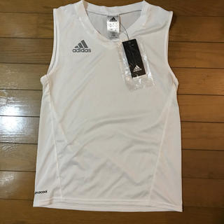 アディダス(adidas)の新品 adidas アディダス インナー 白 ノースリーブ 2XS(Tシャツ/カットソー(半袖/袖なし))